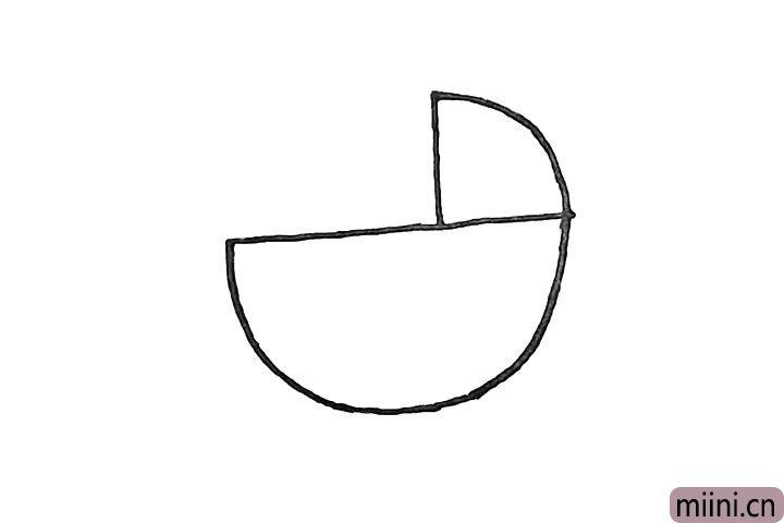 2.车身的右上方画一个三角形.作为车棚。