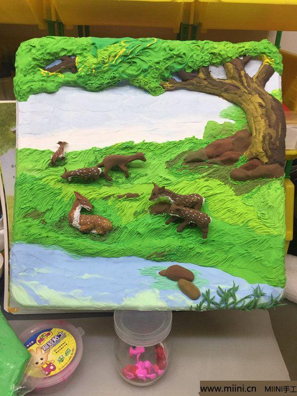 开心小鹿粘土画 第29步