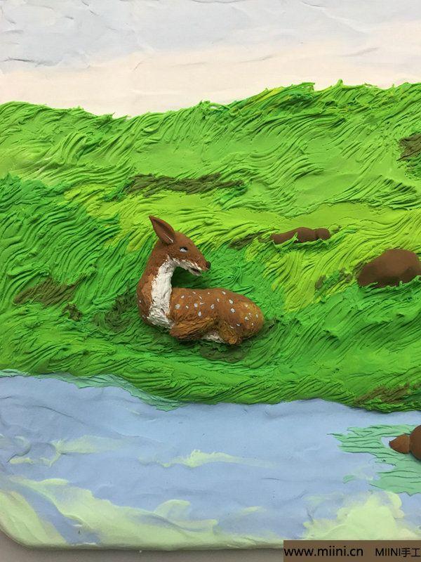 开心小鹿粘土画 第18步