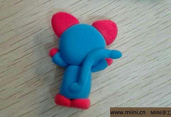 蓝色小猫咪挂件粘土教程 第12步