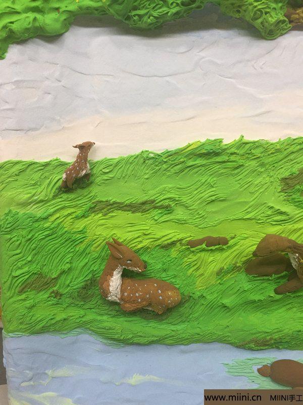开心小鹿粘土画 第25步