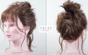 适合中短发的丸子头发型