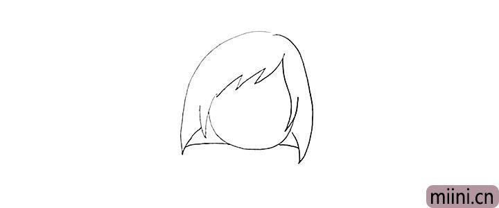 3.以及她的头发.注意线条的变化和位置。