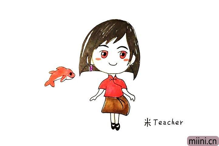 大鱼海棠椿的简笔画步骤