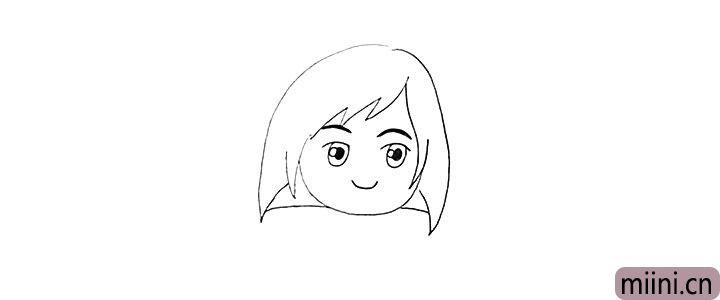5.还有她黑黑的眉毛和微笑的嘴巴。