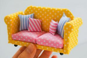 给自己心爱的BJD娃娃做一个迷你沙发
