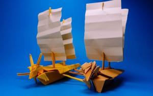 教你折纸立体龙舟,庆祝端午节