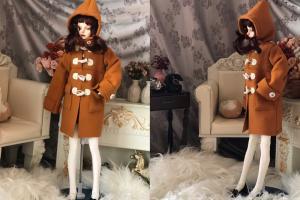 天冷了快给你家娃娃做件牛角扣大衣
