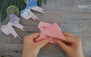 教你折纸蝴蝶结,真的很好看