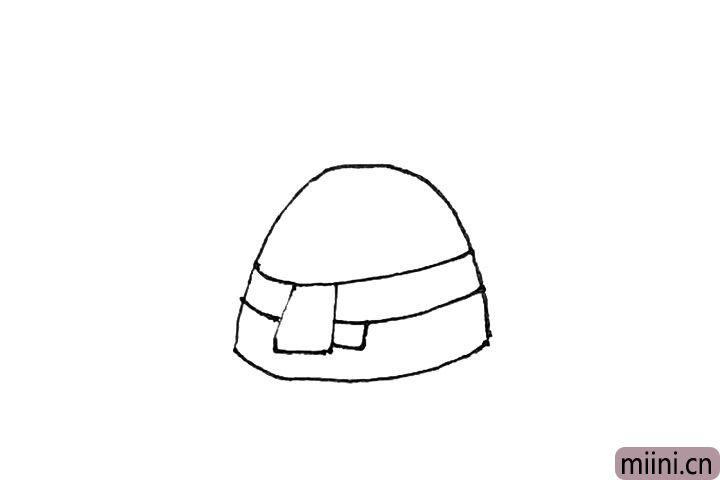 2.然后用几个方形画出围巾的感觉。