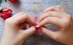 折纸玫瑰花,送给心爱的人
