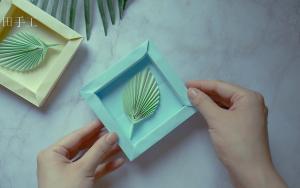 教你折纸相框,还是立体的