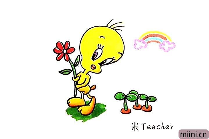 黄色的小鸭子简笔画教程