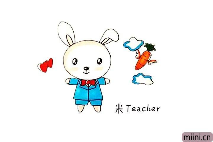 吃胡萝卜的兔子简笔画教程