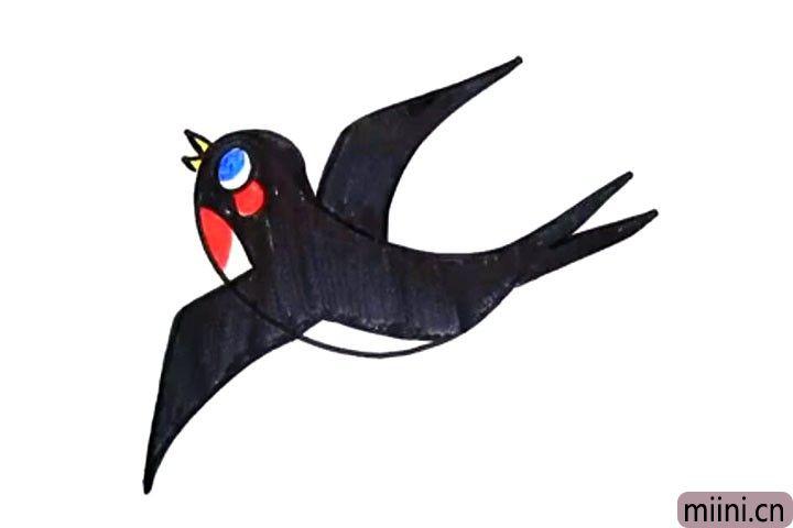飞翔的小燕子简笔画