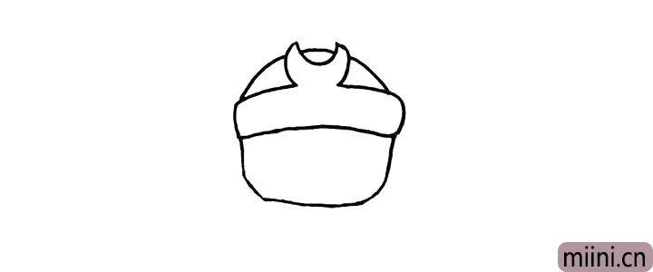 3.向下画出沙和尚的脸颊。