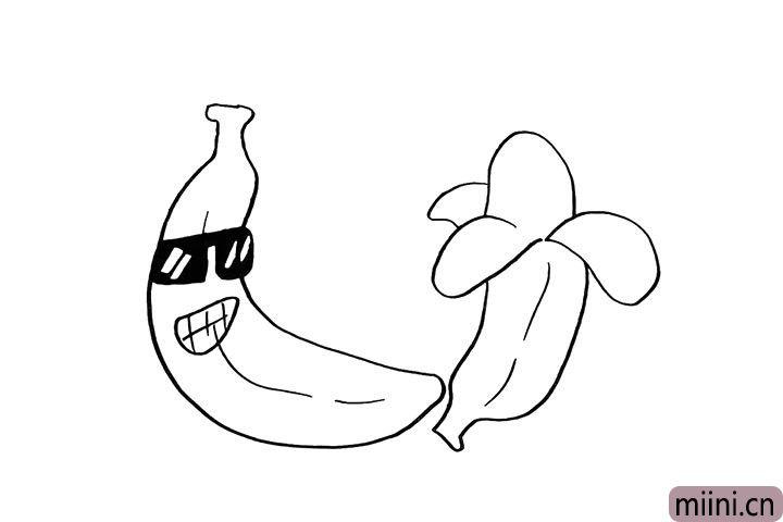 6.以及香蕉的下半身.和香蕉的纹理。