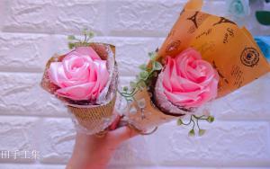丝带玫瑰花,送给自己的情人