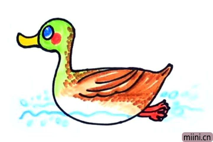 吃蝗虫的鸭子简笔画教程