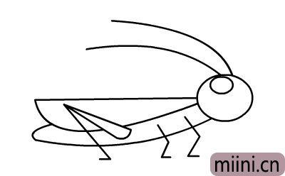 儿童简笔画蝗虫的画法