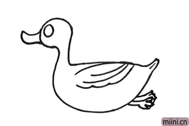 5.画出鸭子的双脚。