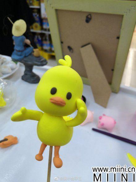 抖音网红跳舞小黄鸭的粘土手作教程