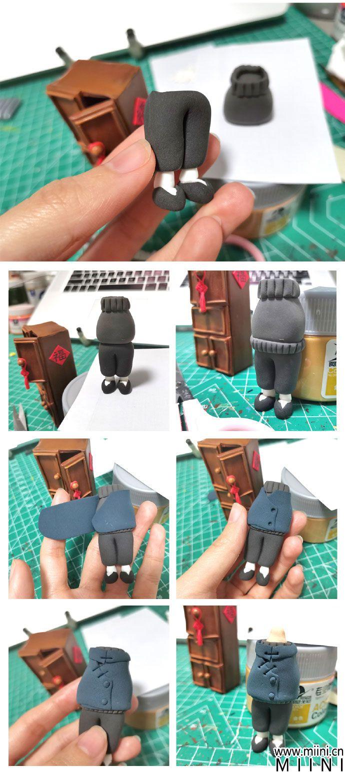粘土拟人人偶手办制作方法