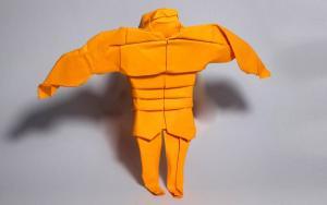 折纸肌肉猛男,让你复工后更有安全感