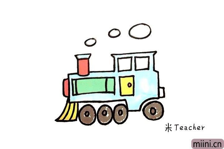 为城市做贡献的扫马路车子简笔画步骤教程