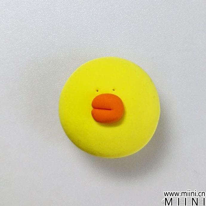 粘土捏的大脸小黄鸭制作教程