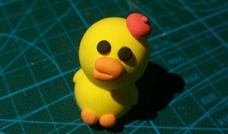 丑萌的粘土小黄鸭吃蝗虫,灭蝗灾
