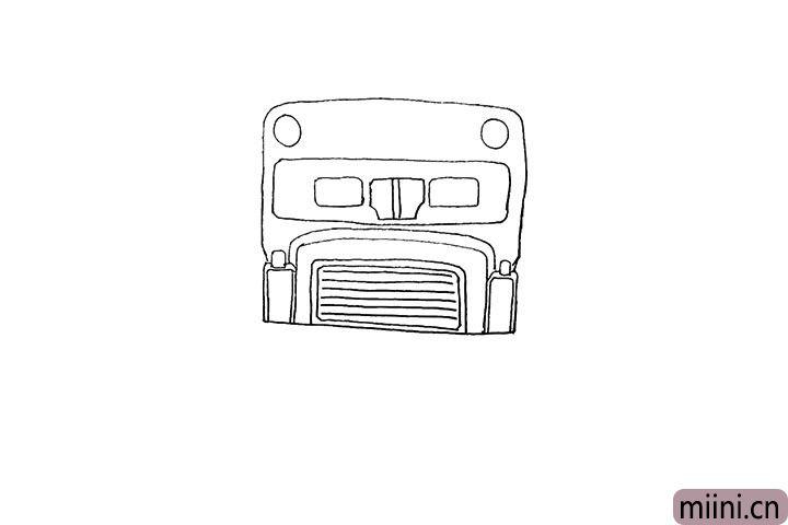 5.用线条画出它的进气格栅。