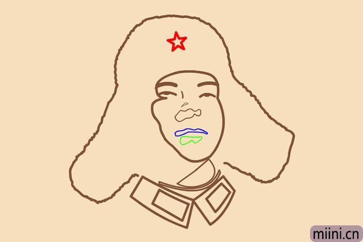 8.花生壳上爬蚯蚓,闪闪红星放光芒。