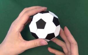 教你折纸迷你足球,坚固耐玩,很有意思