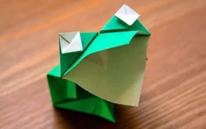 折纸青蛙,可以呱呱叫的小生灵