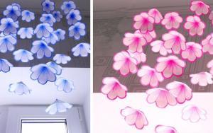 折纸花朵风铃,当它响起的时候,也是春天的到来