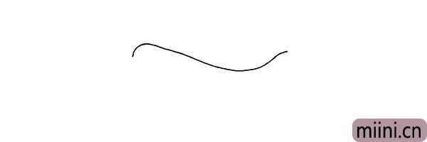 1.首先用一条不规则的曲线勾勒出飞机的上半身。