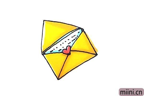 6.最后涂上好看的颜色,信件就这样画好了。