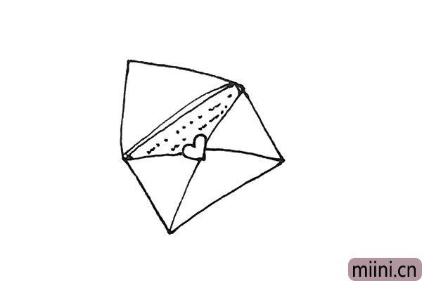 5.里面再画上几条横线,写上点东西作书信的感觉。