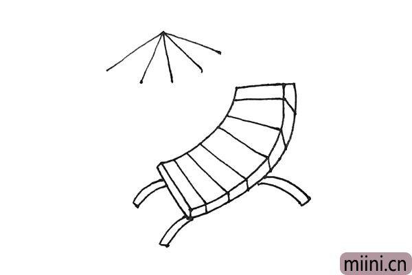 5.椅子画好以后,外面画上几条放射线。