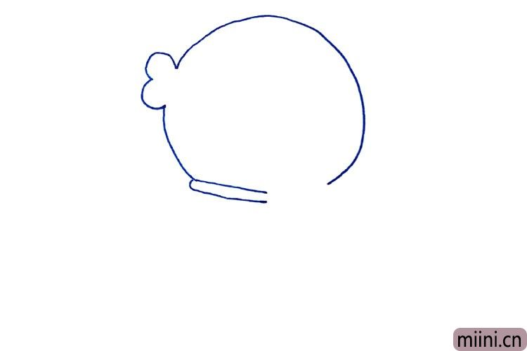 2.接着画头部轮廓。