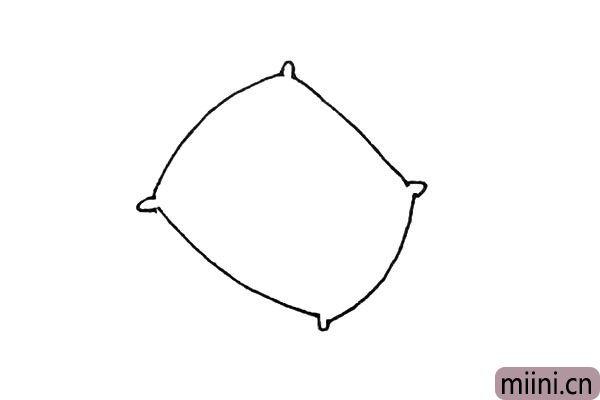 2.在缺口处再画上一些小的半椭圆形。