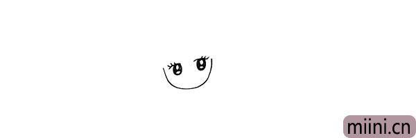 2.再画出她大大的眼睛留出高光。