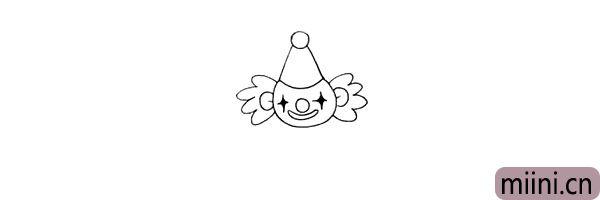 6.耳朵两边是小丑的假发.像两个小翅膀。