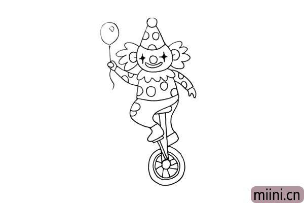 15.接着在把小丑的身上装饰一下.是一些小的圆圈。
