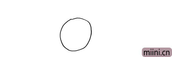 1.首先画一个圆.是一个切开的柠檬。