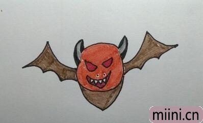 病毒携带者蝙蝠简笔画步骤教程