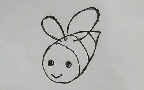 勤劳的小蜜蜂简笔画步骤教程