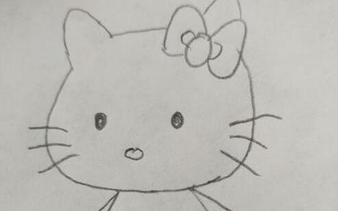 卡通hellokitty小猫简笔画步骤教程