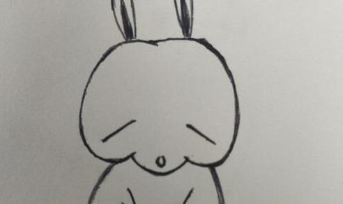 卡通流氓兔简笔画步骤教程